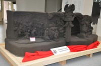 A model of Braun's Nativity scene formed through a 3D sandprint exposed on the Engineering Fair in Brno