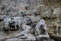 Cleansing of the Adoration of the Magi section of Braun's Nativity scene by the Faculty of Restoration of the Unversity Pardubice in Litomyšl.