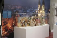 Model of Braun's nativity scene on Joy to the World: Creches of Central Europe exhibition in New Haven, USA.