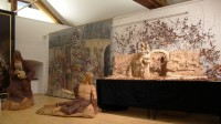 Model of Braun's Nativity Scene and other woodcarvings by Mr. Leoš Pryšinger at an exhibition