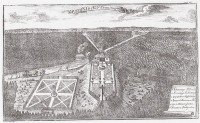 Hermitages in New Forest. Engraving of 1720.